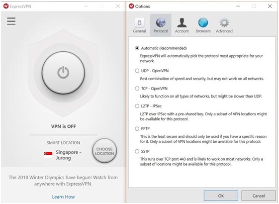 expressvpn options
