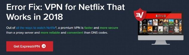 ExpressVPN Netflix Not Working Error Message, Possible