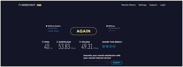 TorGuard VPN speed tests