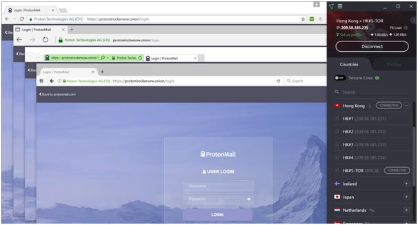 ProtonVPN 2019 TOR support